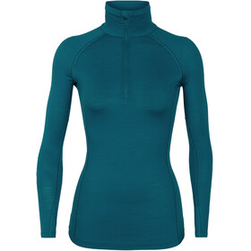 Icebreaker 150 Zone LS Half Zip Shirt Women Kingfisher/Arctic Teal